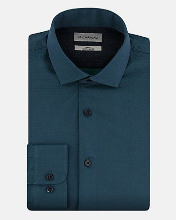Tonal Cotton Slim Fit Shirt