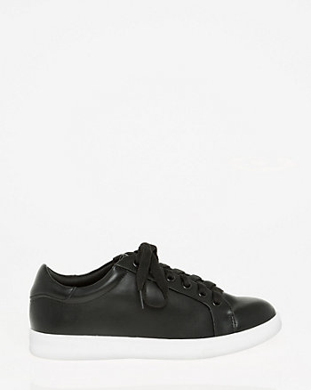 Tonal Leather-Like Sneaker