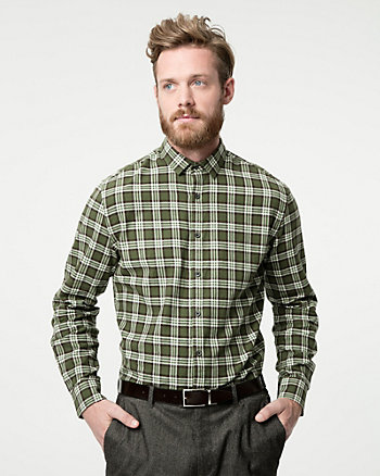 Check Print Cotton Tailored Fit Shirt