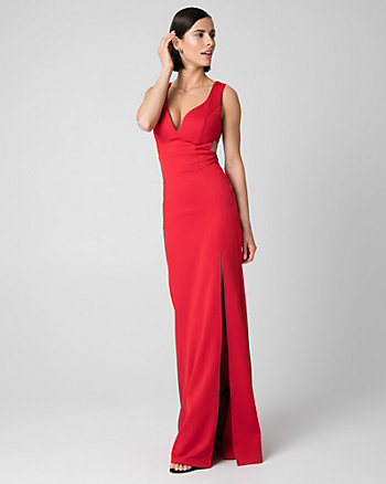 Scuba V-Neck Gown