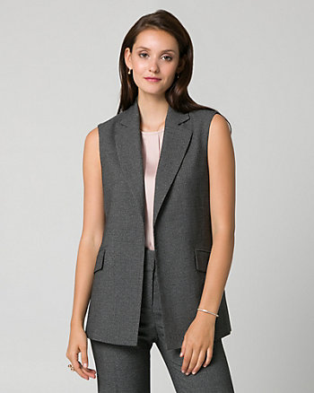 Viscose Blend Notch Collar Vest
