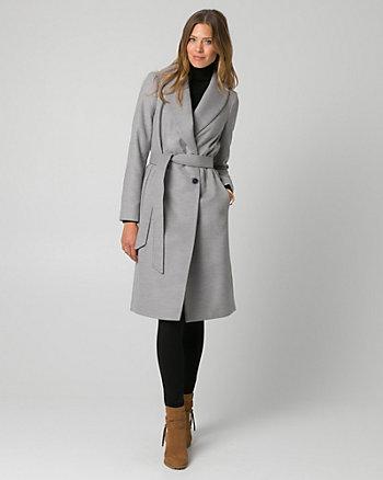 Cashmere-Like Shawl Collar Wrap Coat