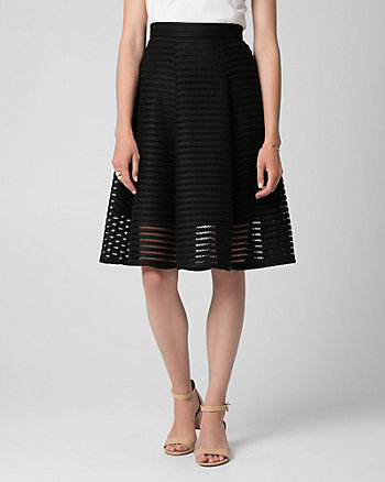 Bonded Mesh Shadow Stripe Full Skirt