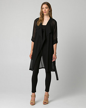 Chiffon Open-Front Throwover