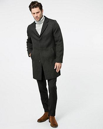 Textured Twill Crombie Coat