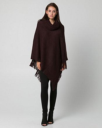 Knit Cowl Neck Poncho