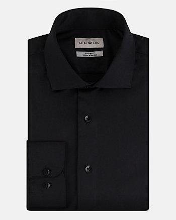 Stretch Cotton Sateen Regular Fit Shirt