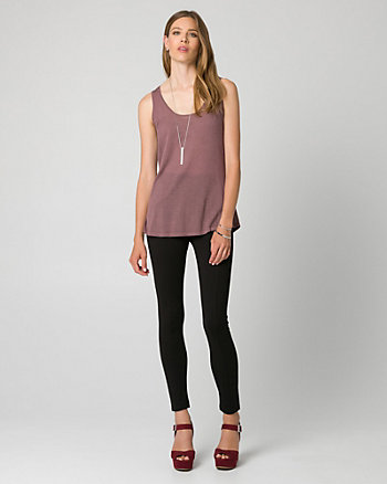 Viscose Blend Scoop Neck Tank