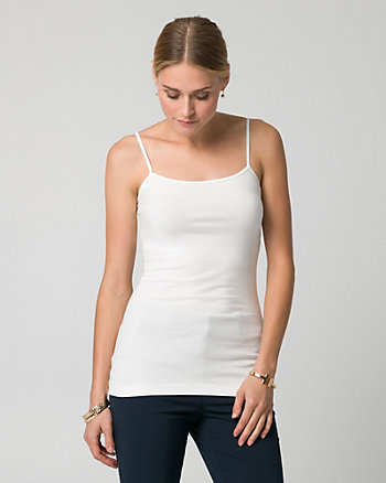 Cotton Blend Scoop Neck Tank