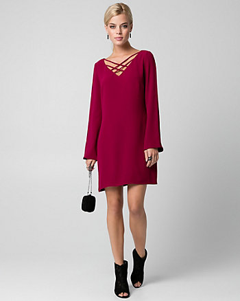 Tricoteen V-Neck Tunic Dress