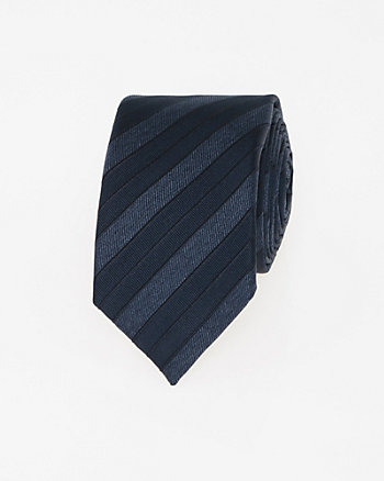 Italian-Made Silk Blend Skinny Tie