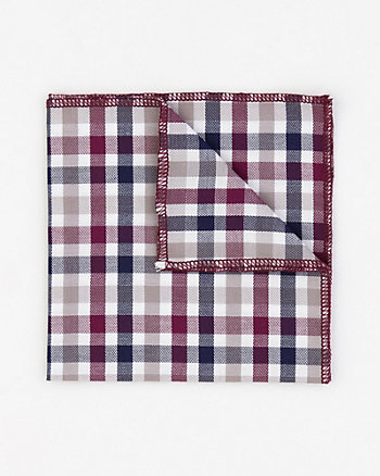 Check Print Cotton Pocket Square