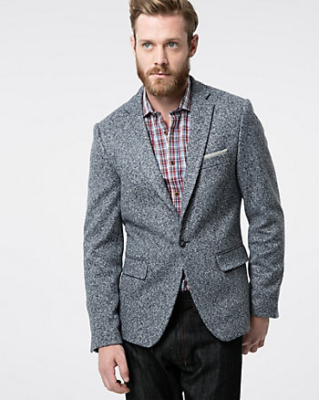 Tonal Tweed Slim Fit Blazer