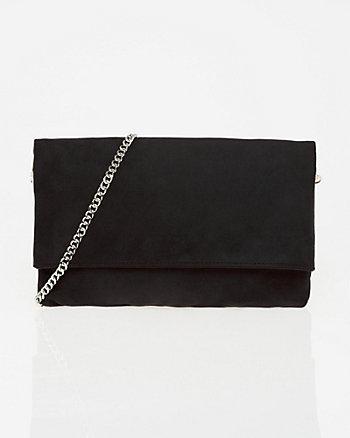 Suede-Like Crossbody Bag