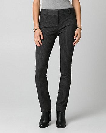 Stripe Ponte Slim Leg Pant