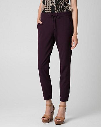Pantalon en tricot d'aspect crêpe