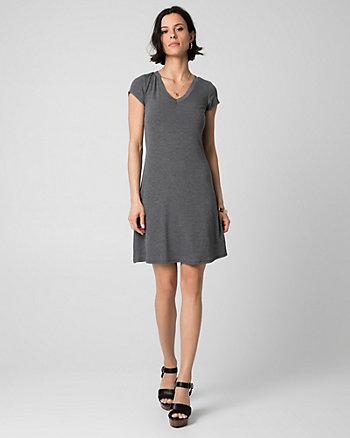Jersey V-Neck Mini Dress