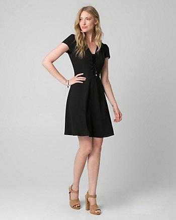 Crêpe V-Neck Dress