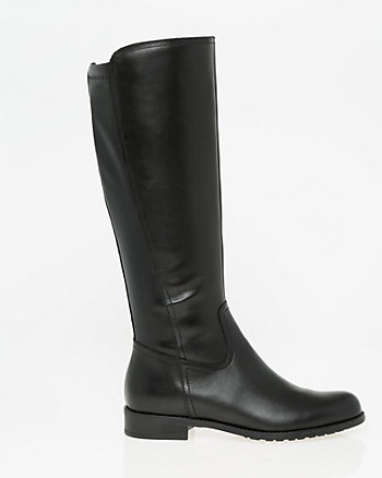 Italian Designed Leather Knee-High Boot