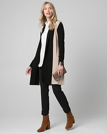 Rib Viscose Blend Duster Cardigan