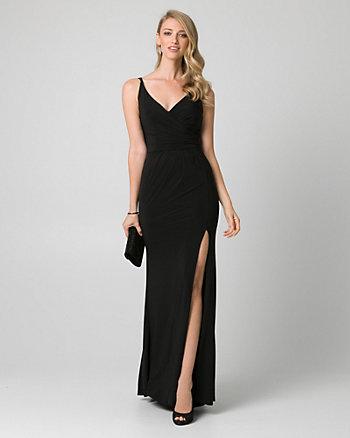 Knit V-Neck Gown