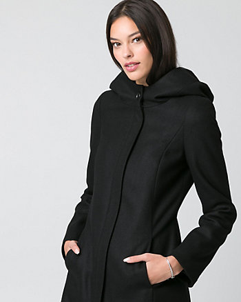 Melton Hooded Coat