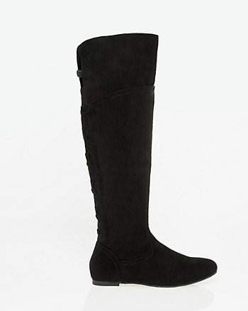 Suede-Like Knee-High Boot