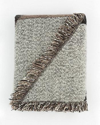 Colour Block Woven Blanket Scarf