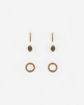 Set of Three Metal Earrings