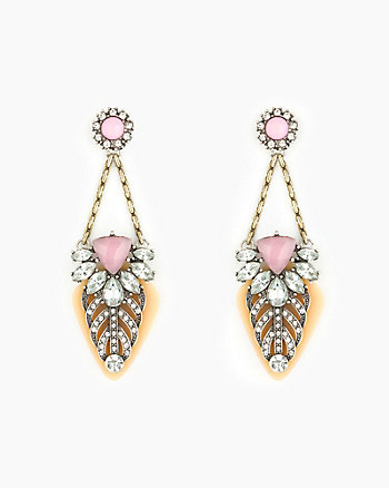 Faceted Gem Chandelier Earrings