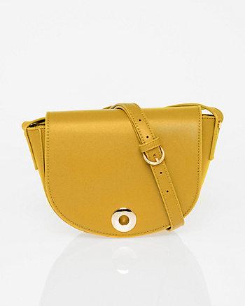 Saffiano Leather-Like Crossbody Satchel