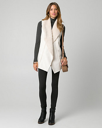 Textured Faux Sherpa Vest