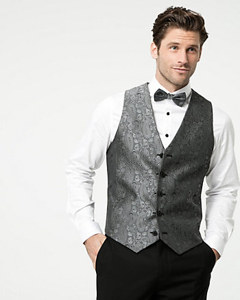 Reversible Jacquard Contemporary Fit Vest