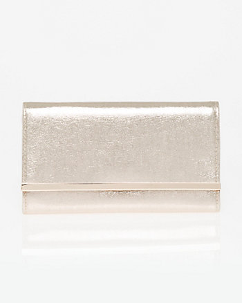 Metallic Foil Flapover Clutch