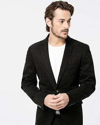 Cotton Blend Contemporary Fit Blazer