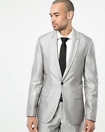 Shiny Twill Slim Fit Blazer