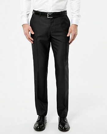 Shiny Twill Straight Leg Pant