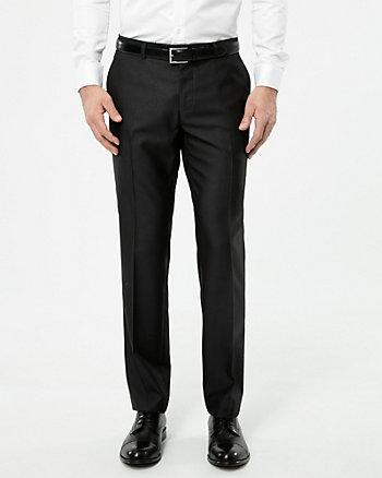 Shiny Twill Straight Leg Pant
