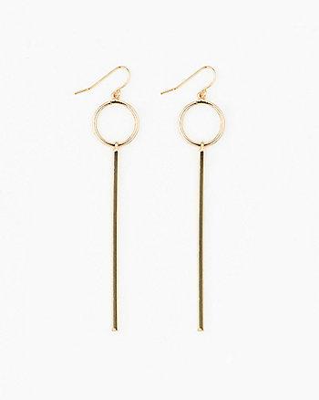 Circle & Bar Metal Earrings