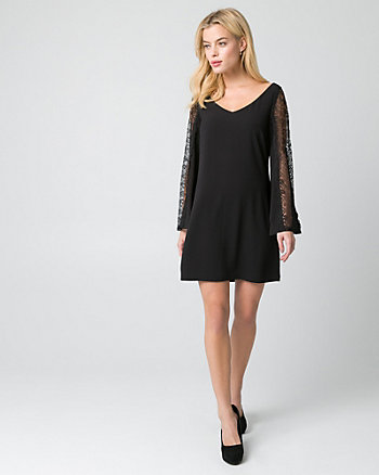 Lace & Crêpe de Chine Dress