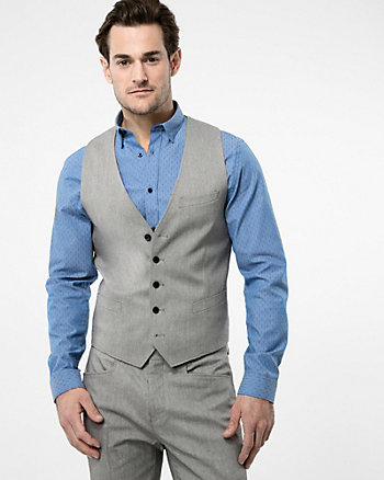 Two-Tone Stretch Twill City Fit Vest