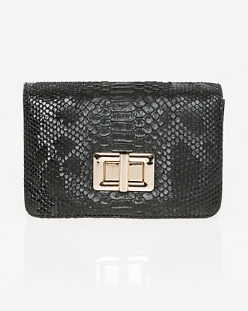 Lizard Embossed Leather-Like Bag