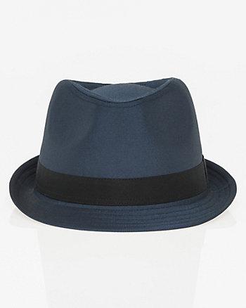 Shiny Twill Fedora Hat