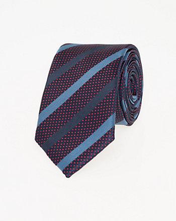 Stripe Microfibre Tie
