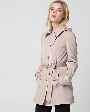 Cotton Blend Asymmetrical Coat