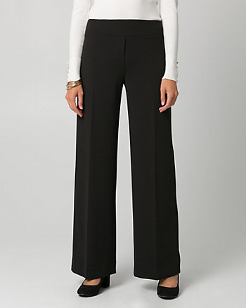Knit Crêpe Wide Leg Pant