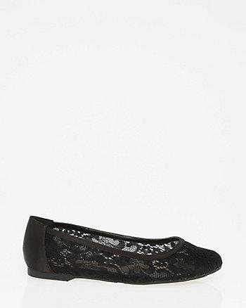 Lace & Satin Ballerina Flat