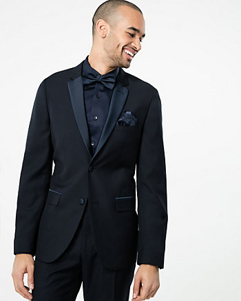Viscose Blend Slim Fit Tuxedo Blazer