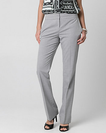 Crosshatch Viscose Blend Flare Leg Pant