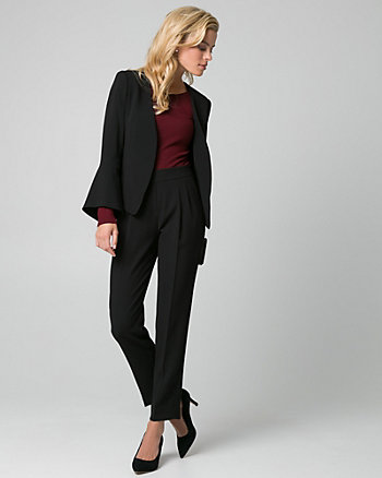 Triacetate Peplum Blazer
